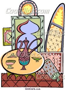 222x308 Traditional Arabic Tea Set Clip Art