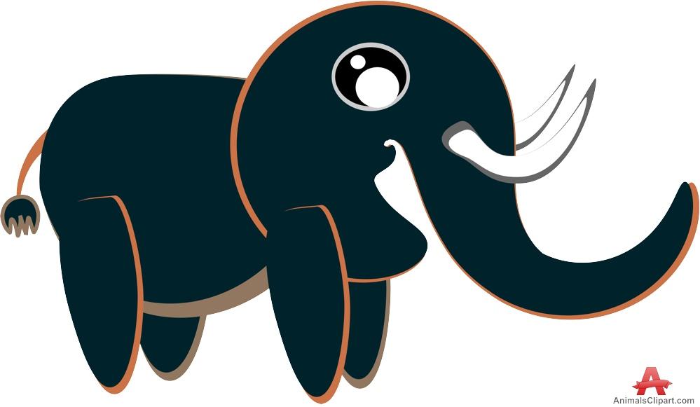 999x581 Cute Black Elephant Clipart Free Clipart Design Download