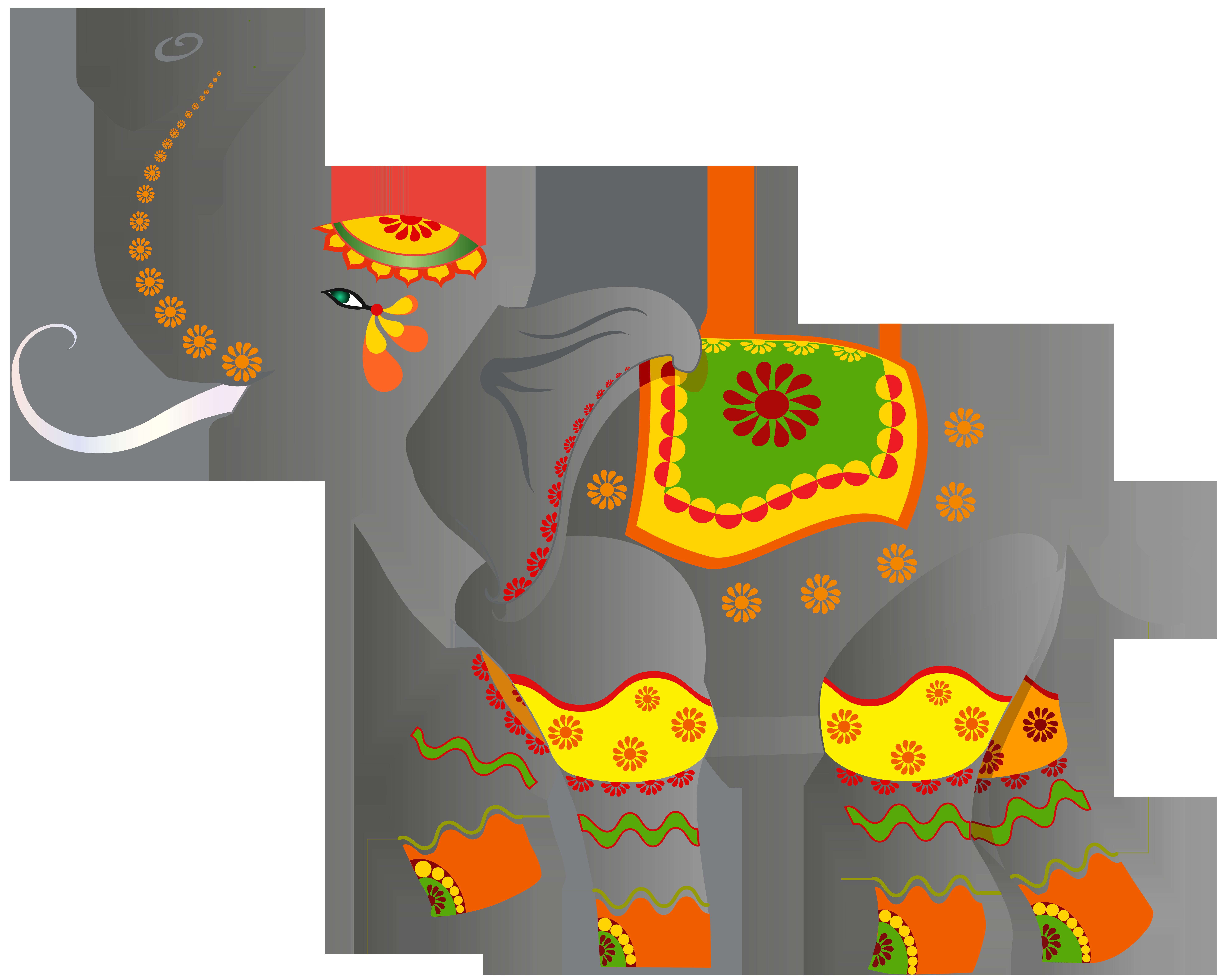 8000x6357 Decorative Indian Elephant Png Clip Art Imageu200b Gallery