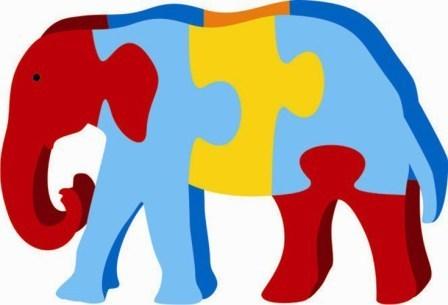 448x305 Elephant Clipart Puzzle