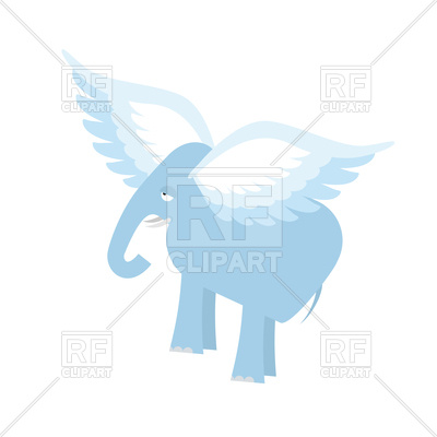 400x400 Flying Elephant Royalty Free Vector Clip Art Image