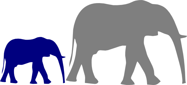 600x274 Mother And Baby Elephant Clip Art