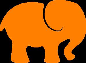 297x219 Orange White Elephant Clip Art