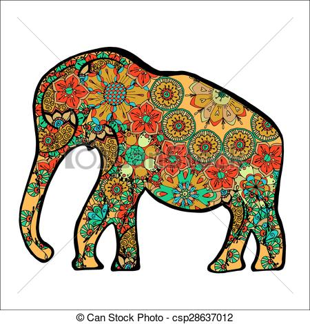 450x470 The Cheerful Elephant. The Silhouette Of The Elephant Collected