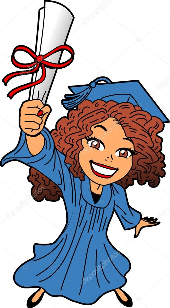 567x1023 Graduation Clipart Black Woman