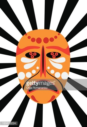 343x500 African Mask Premium Clipart