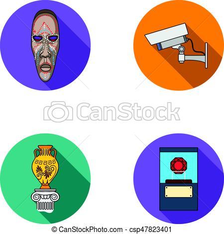 450x470 African Mask, Video Surveillance, Vase, Diamond Under