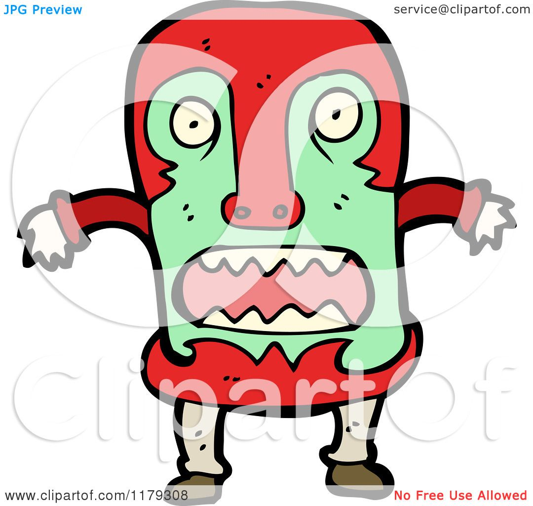 1080x1024 Cartoon Of A Witch Doctor Wearing A Wooden African Mask