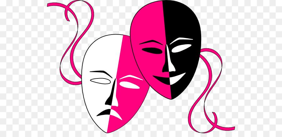 900x440 Theatre Drama Mask Comedy Clip Art