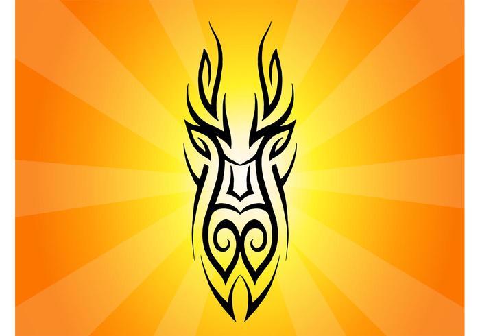 700x490 Tribal Mask Clip Art