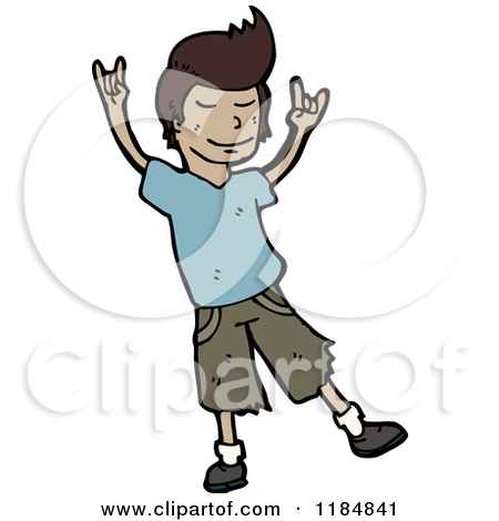 450x470 African American Boy Dancing Clipart