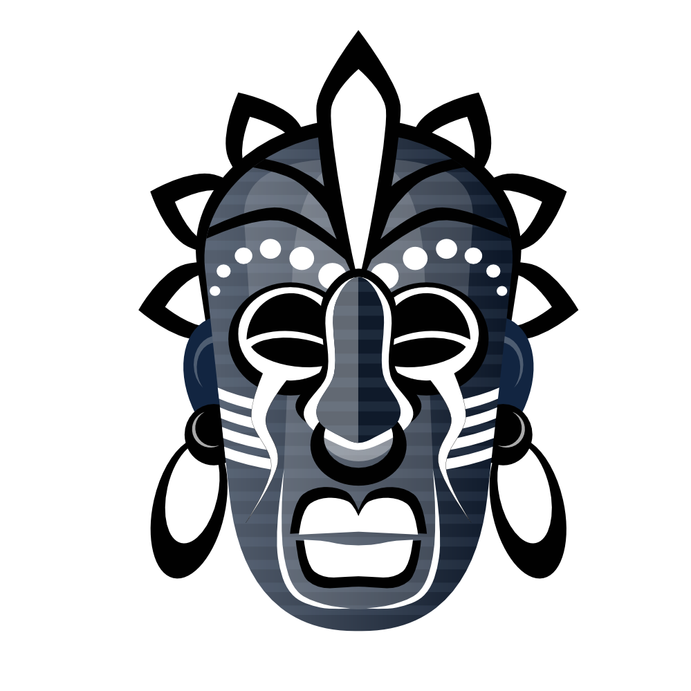 999x999 Clip Art Abstract Tribal Mask 3 Scalable Vector