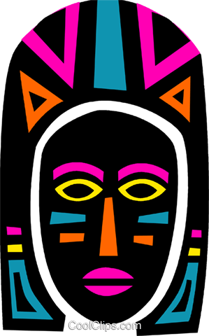 299x480 African Mask Royalty Free Vector Clip Art Illustration Vc094667