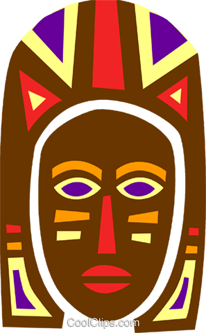 297x480 African Mask Royalty Free Vector Clip Art Illustration Vc094669