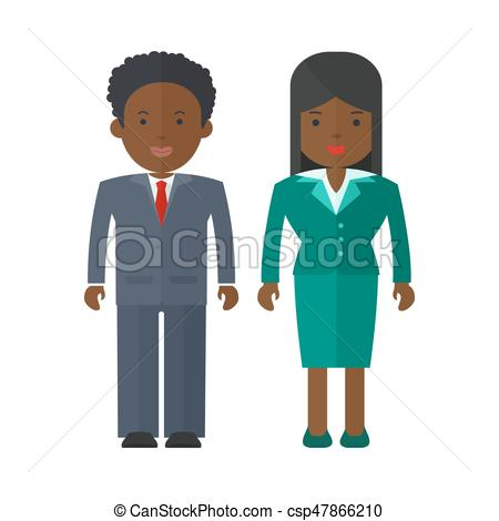 450x470 Black People Businessman. Vector African American Business