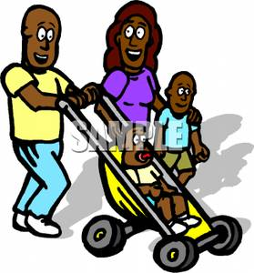 279x300 Clip Art Image A Smiling African American Family