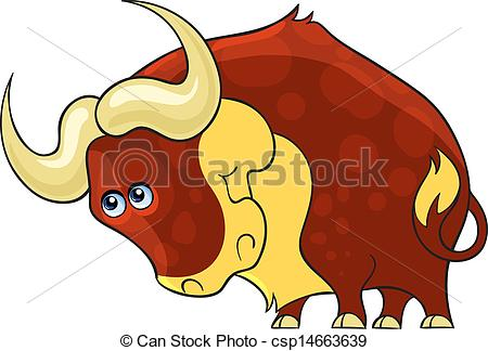 450x324 Bull. Cartoon African Wild Animal. Cartoon African Wild Vectors