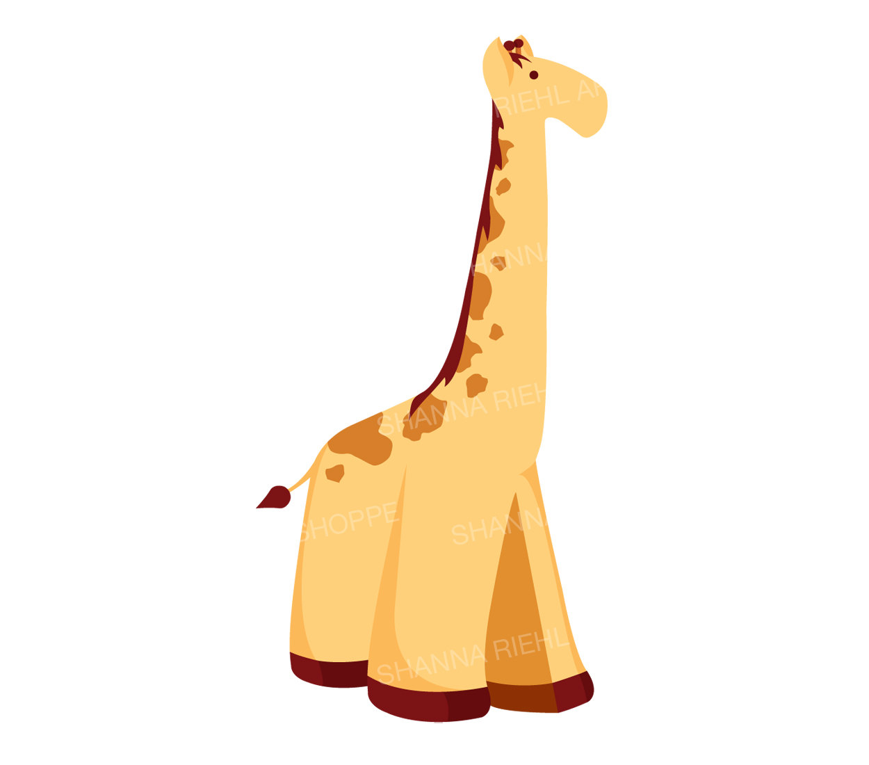 1250x1100 Giraffe Clip Art Safari Printables Jungle Theme Instant