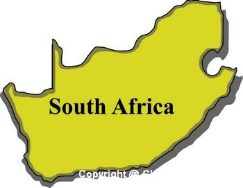350x271 South Africa Map Clipart Kid