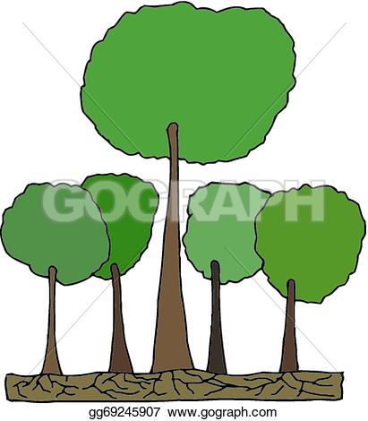 411x470 Forest Clipart Tall Tree
