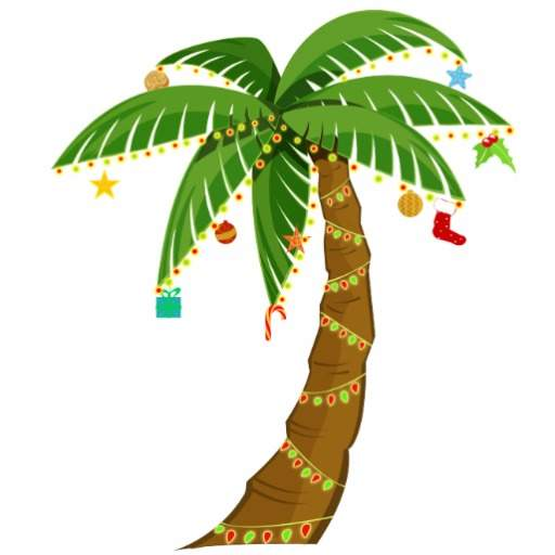 512x512 Palm Christmas Tree Clipart