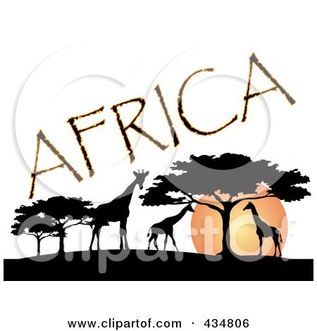 450x470 Afro Silhouette Clip Art Royalty Free (Rf) Clipart Illustration
