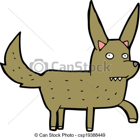 450x443 Cartoon Wild Dog Eps Vector
