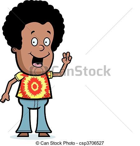 450x470 Afro Black Boy Cartoon Child Dye Hair Happy Hippie Clip Art Vector