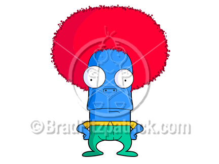 432x324 Cartoon Afro Character Clipart Picture Royalty Free Afro Dude