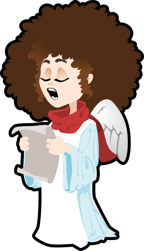 555x968 Free Angel Singing Clip Art