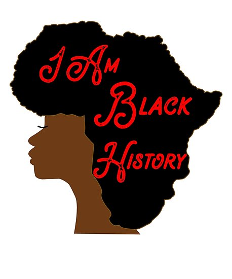 458x550 I Am Black History Month Africa Shape Afro Art Posters By