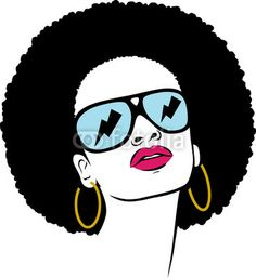 236x257 Afro Hair American Woman Vector Clipart