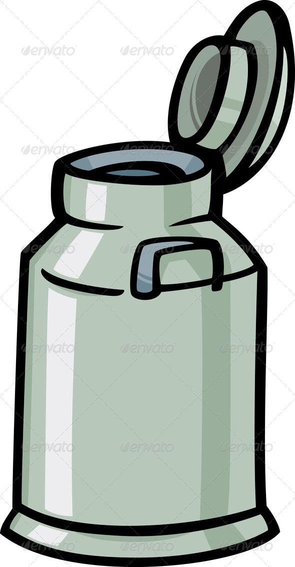 590x1133 Milk Can Or Churn Cartoon Clip Art Milk Can, Milk Churn