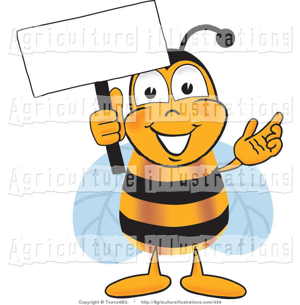 1024x1044 Agriculture Clipart Of A Bumblebee Mascot Cartoon Character