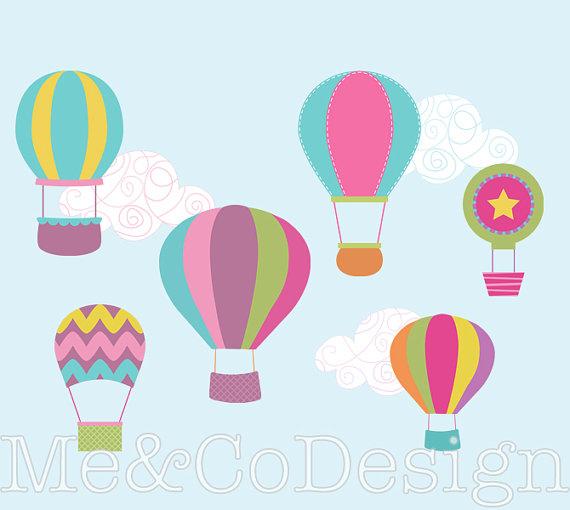 570x510 Hot Air Balloon Clipart, Fun Cute Clipart, Balloons And Clouds
