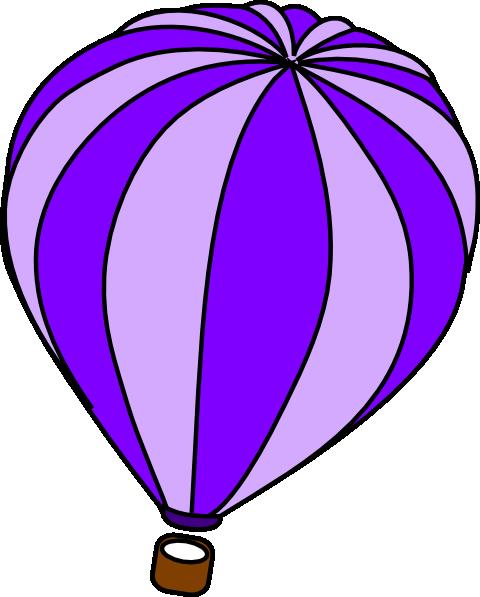 480x597 Hot Air Balloon Purple Clip Art