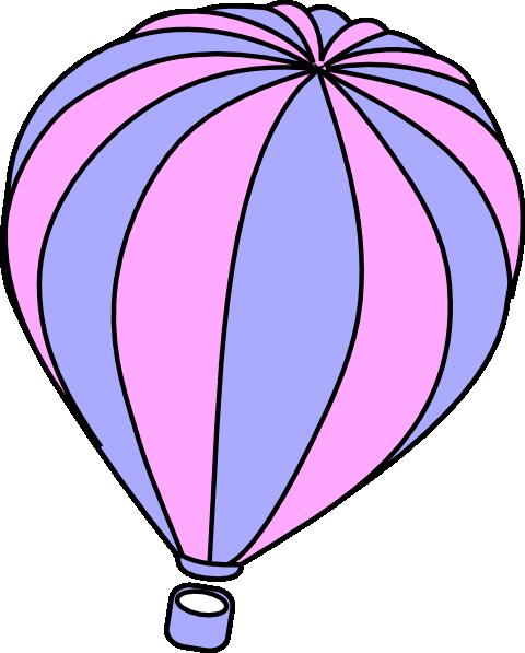 480x597 Lavender And Pink Hot Air Balloon Clip Art