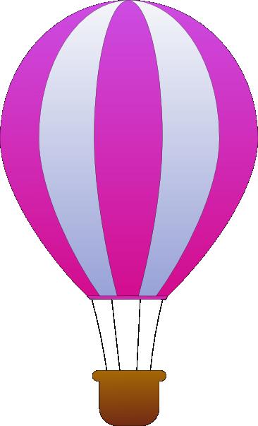 366x603 Maidis Vertical Striped Hot Air Balloons Clip Art Free Vector