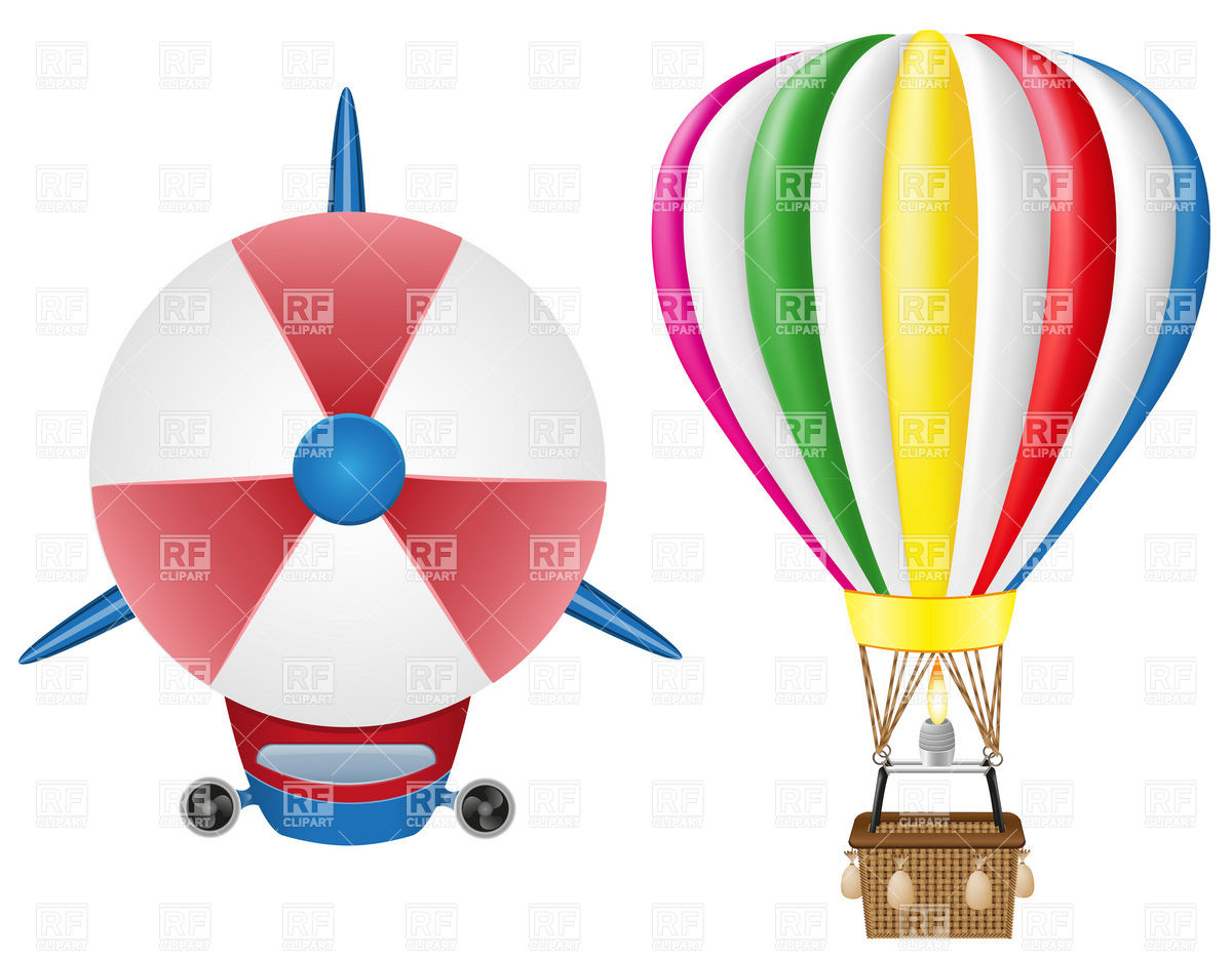 1200x933 Airship Zeppelin (Dirigible) And Hot Air Balloon