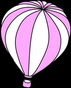 240x299 Pink And White Hot Air Balloon Clip Art