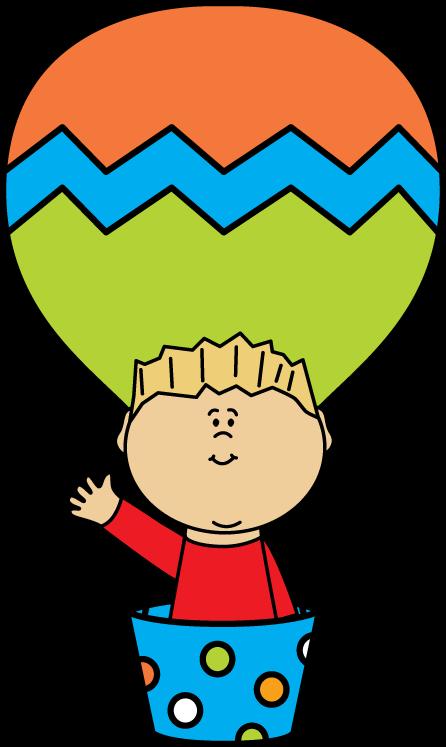 446x747 Boy In A Hot Air Balloon Clip Art