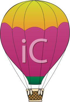 240x350 Cartoon Hot Air Balloon