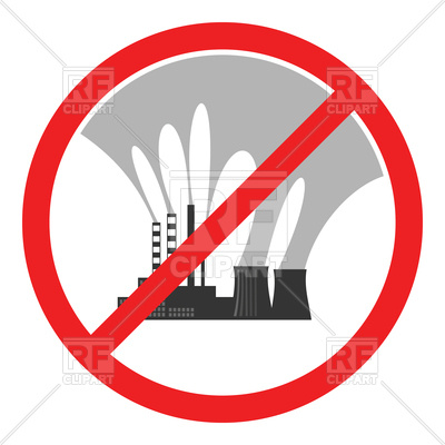 400x400 Stop Air Pollution Sign Royalty Free Vector Clip Art Image