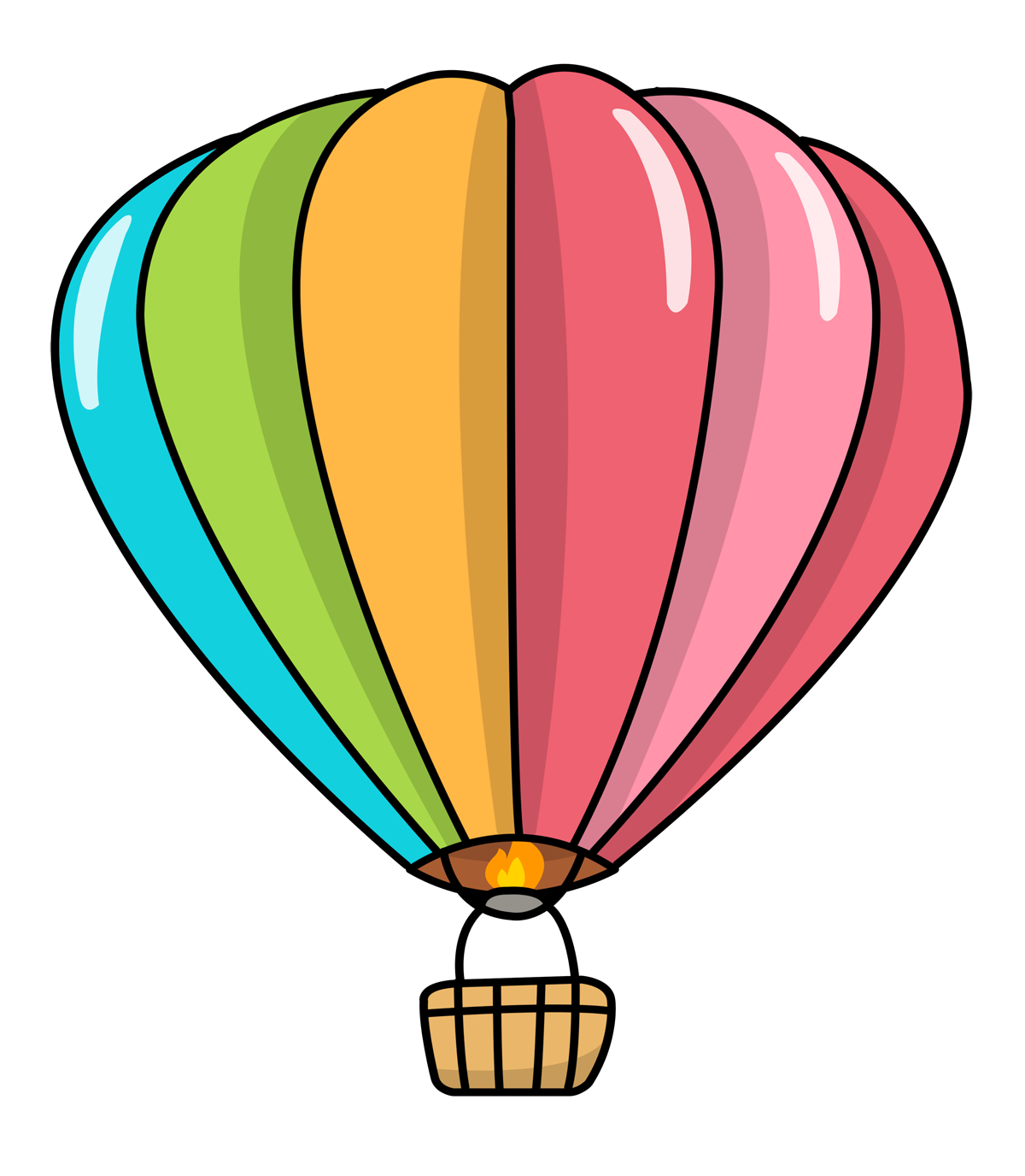 1200x1376 Free Hot Air Balloon Clip Art Amp Look At Hot Air Balloon Clip Art