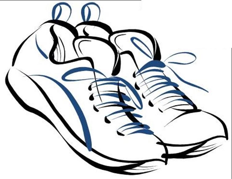 752x579 Drawn Sneakers Clip Art