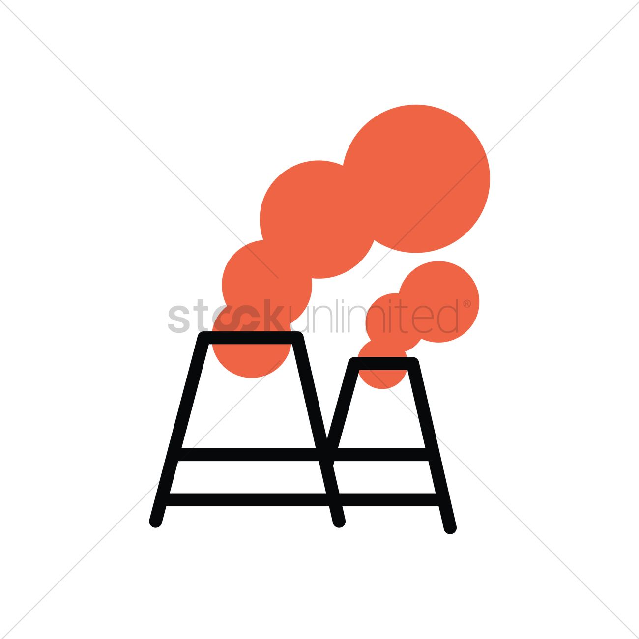 1300x1300 Air Pollution Vector Image