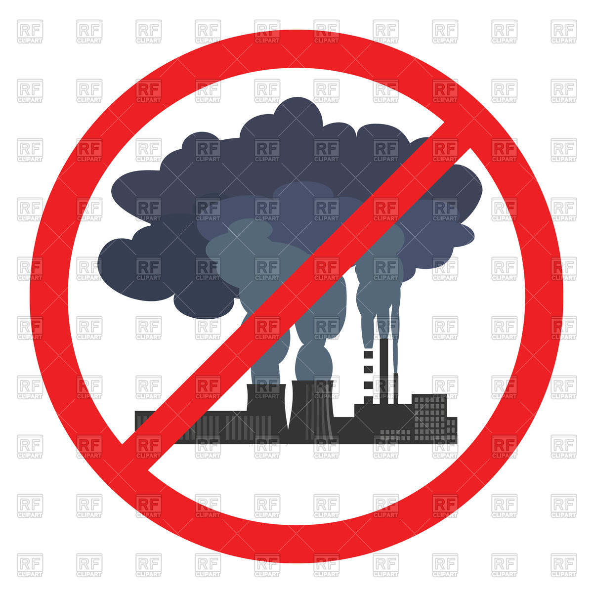 1200x1200 Stop Air Pollution Sign Royalty Free Vector Clip Art Image