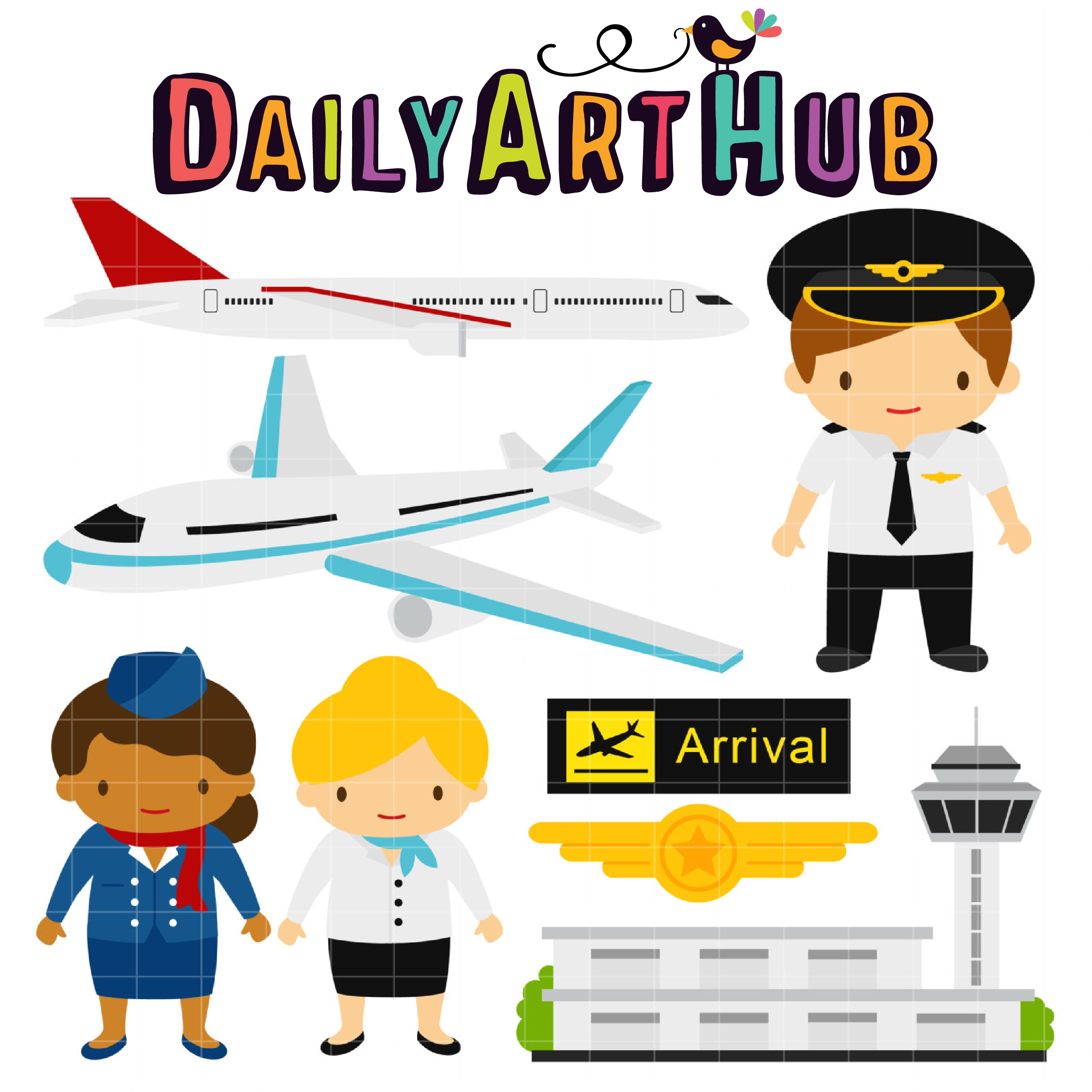 2500x2500 At The Airport Clip Art Set Daily Art Hub Free Clip Art Everyday