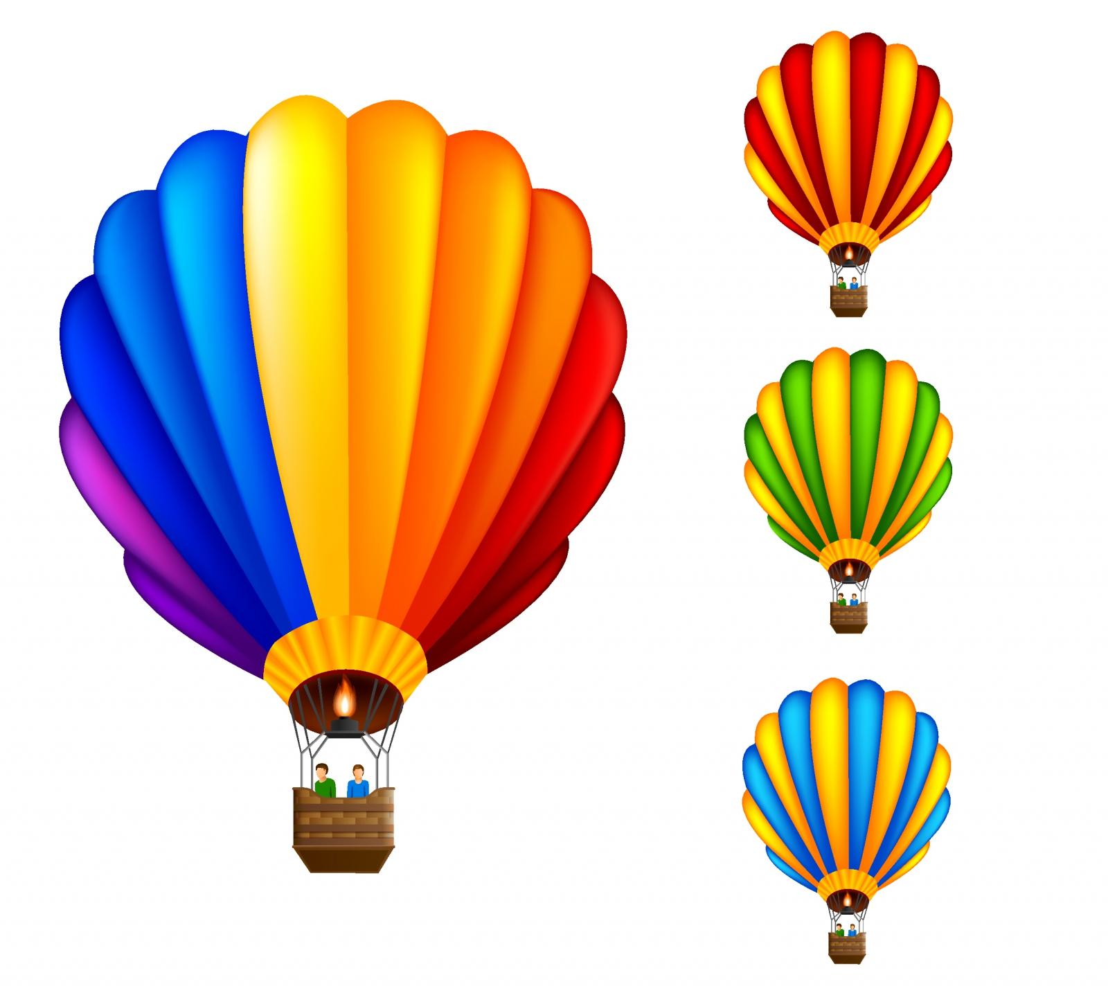 1600x1424 Free Hot Air Balloon Vector Group