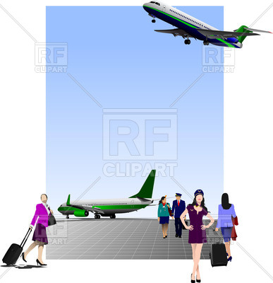 387x400 Passengers With Luggage In Airport